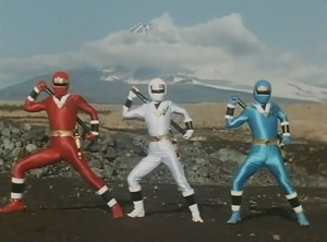 Kakuranger Red, White et Blue